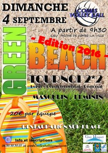 Tournoi Green-Beach COMBS 2016